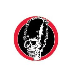 Badge 25 mm Vinyl Maniac (fond rouge)