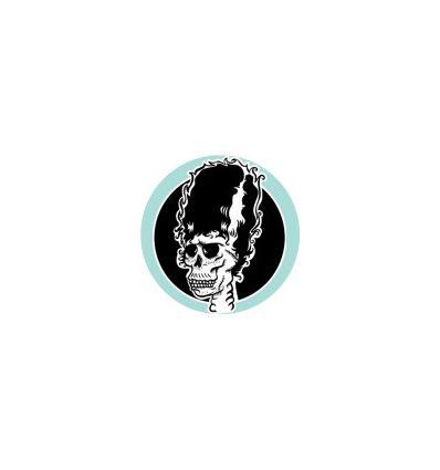 Button Badge 25 mm Vinyl Maniac (blue background)