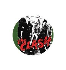 Badge 25 mm Vinyl Maniac - The Clash - 1977