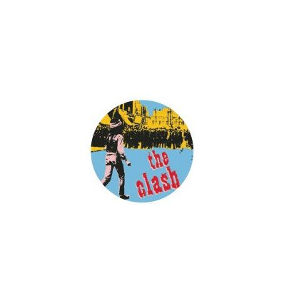 Badge 25 mm Vinyl Maniac - The Clash - Super Black Market Clash