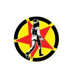 Badge 25 mm Vinyl Maniac - The Clash - Red Star Market Clash